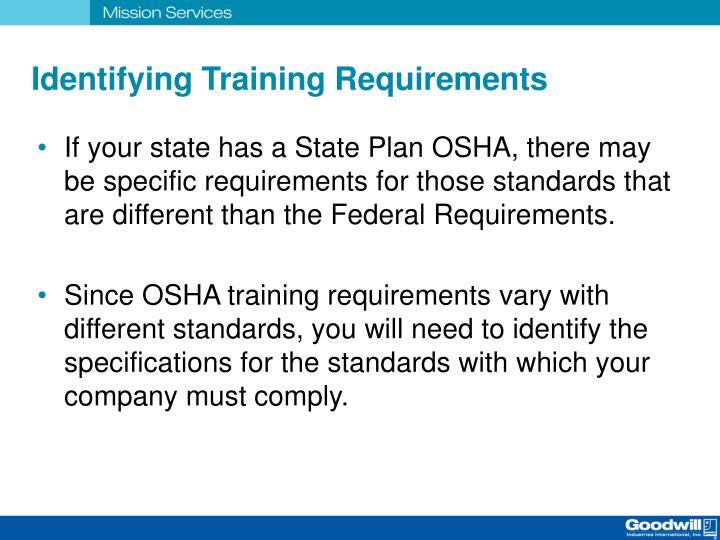 Identifying Training Requirements