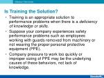 is training the solution1