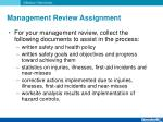 management review assignment1