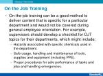 on the job training1