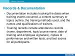 records documentation