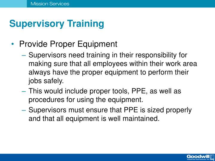 Supervisory Training