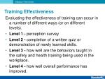 training effectiveness10