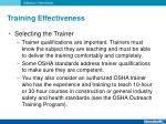 training effectiveness8