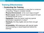 training effectiveness9