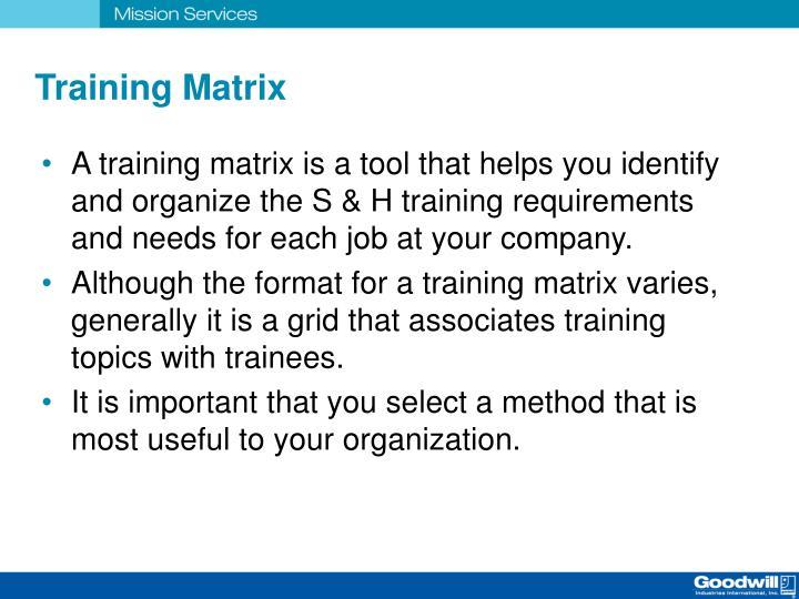 Training Matrix