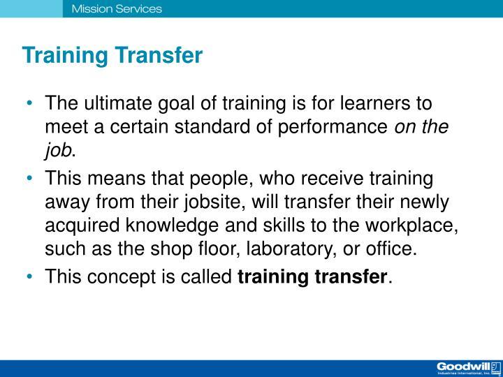 Training Transfer