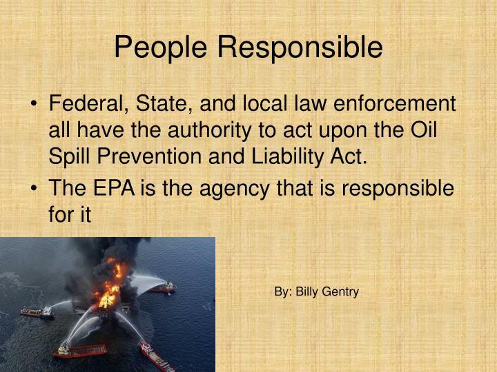 People Responsible