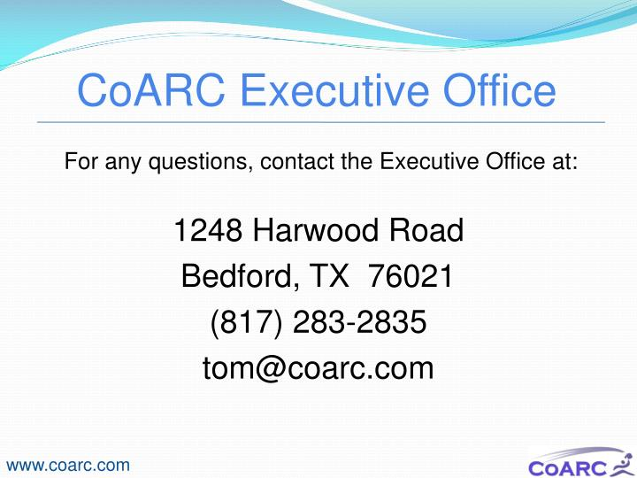 CoARC Executive Office