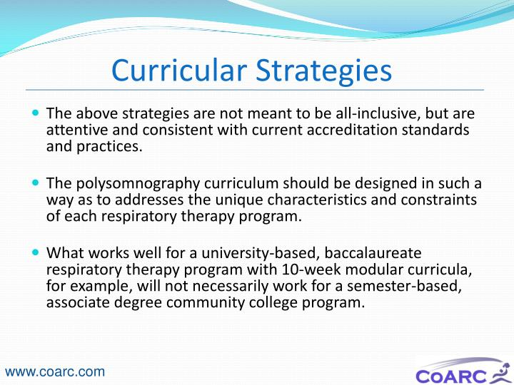 Curricular Strategies