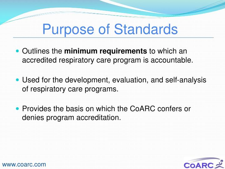 Purpose of Standards