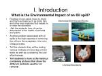 i introduction what is the environmental impact of an oil spill