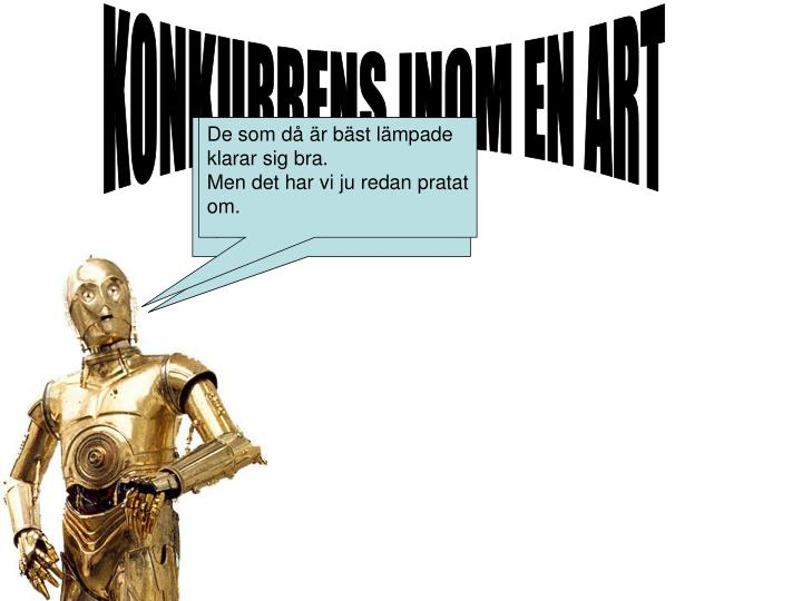KONKURRENS INOM EN ART
