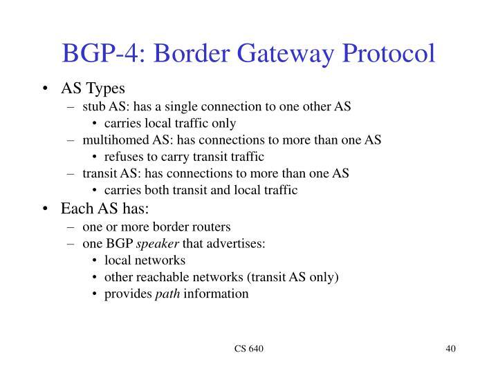 BGP-4: Border Gateway Protocol