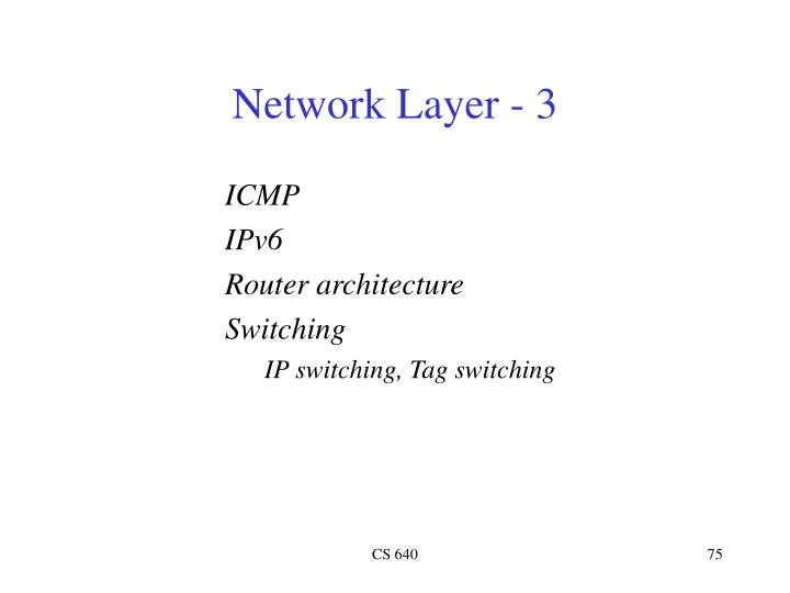 Network Layer - 3