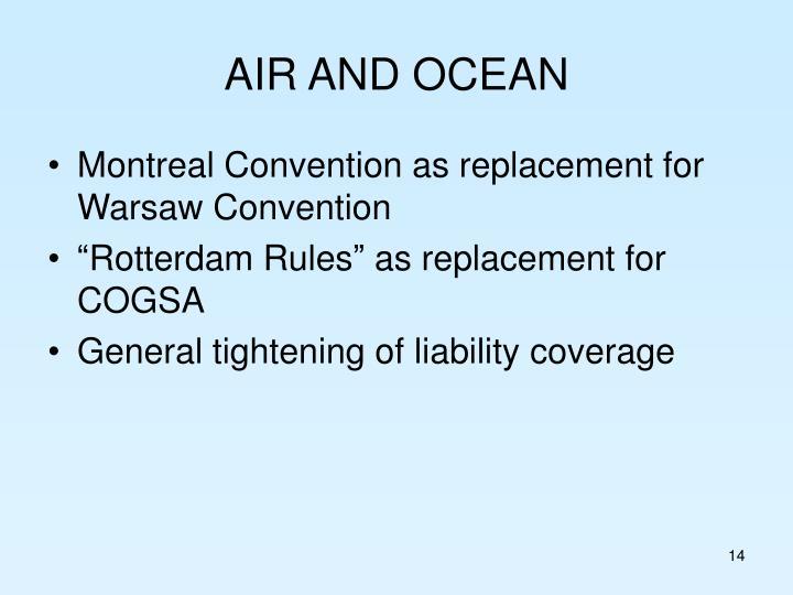 AIR AND OCEAN