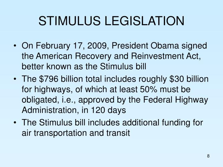 STIMULUS LEGISLATION