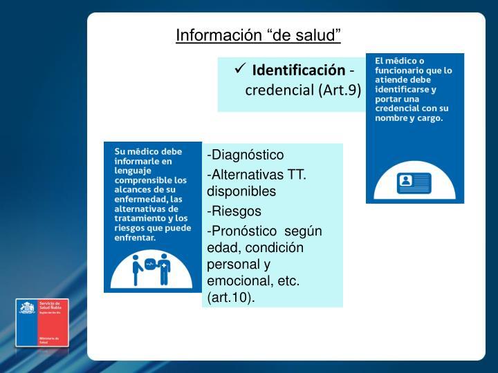 """Información """"de salud"""""""