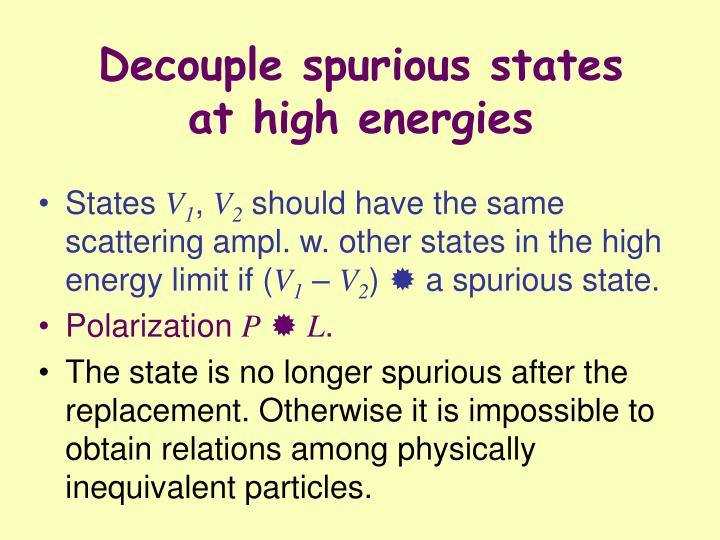 Decouple spurious states