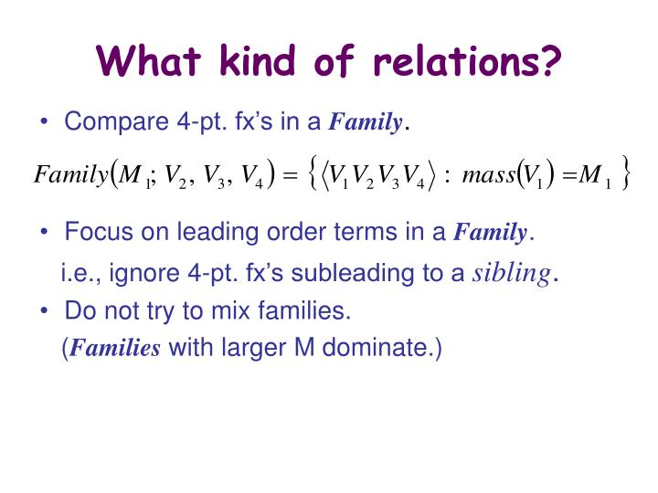 What kind of relations?