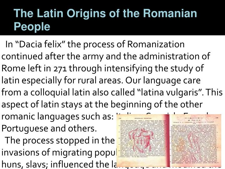 The Latin Origins of the Romanian People