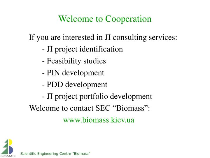 If you are interested in JI consulting services: