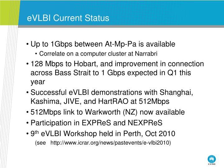 eVLBI Current Status