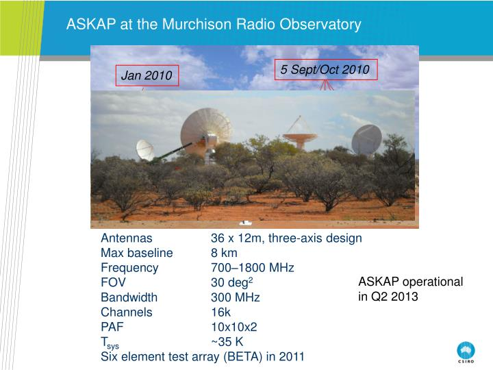 ASKAP at the Murchison Radio Observatory