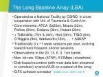 the long baseline array lba
