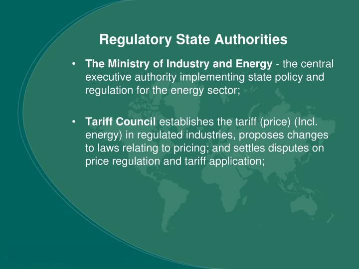 Regulatory State Authorities