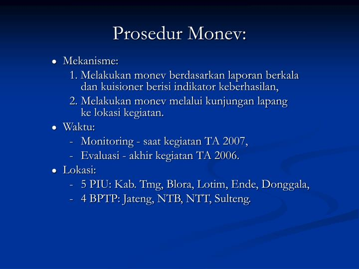 Prosedur Monev:
