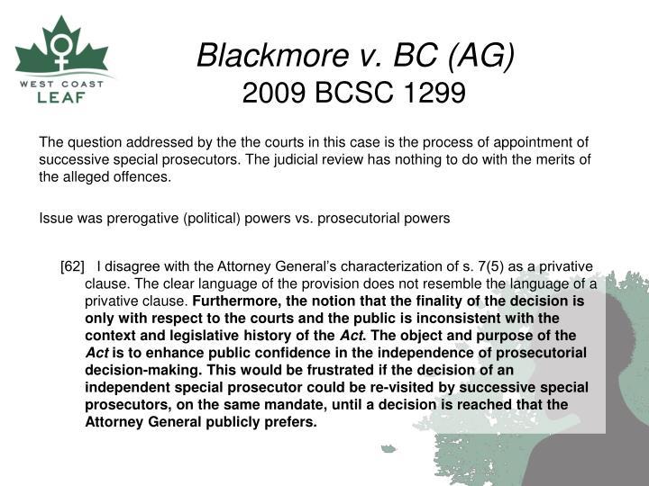 Blackmore v. BC (AG)