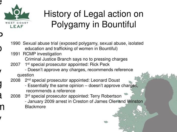 Previous Legal Action Re: Polygamy in Bountiful