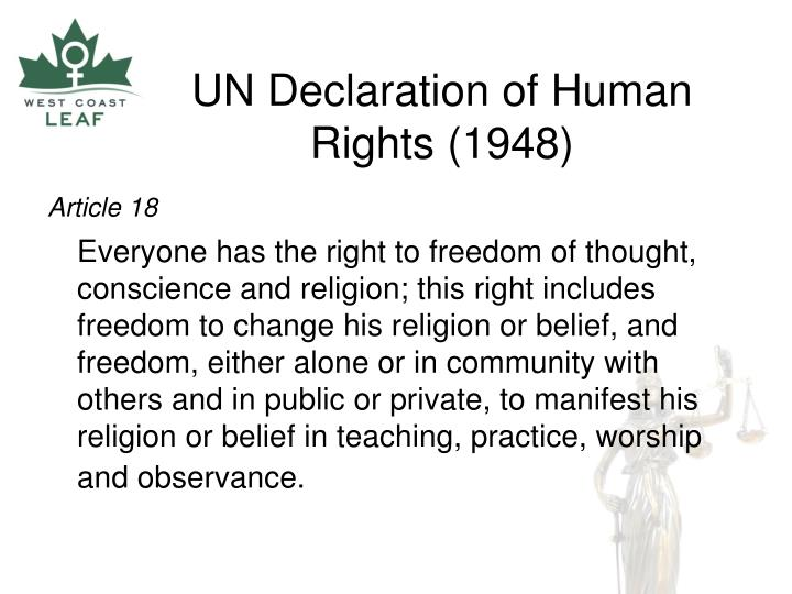 Un declaration of human rights 1948