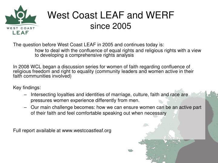 West Coast LEAF and WERF