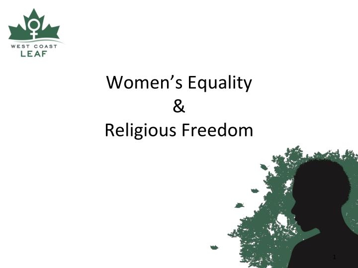 Women s equality religious freedom