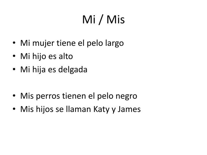 Mi / Mis
