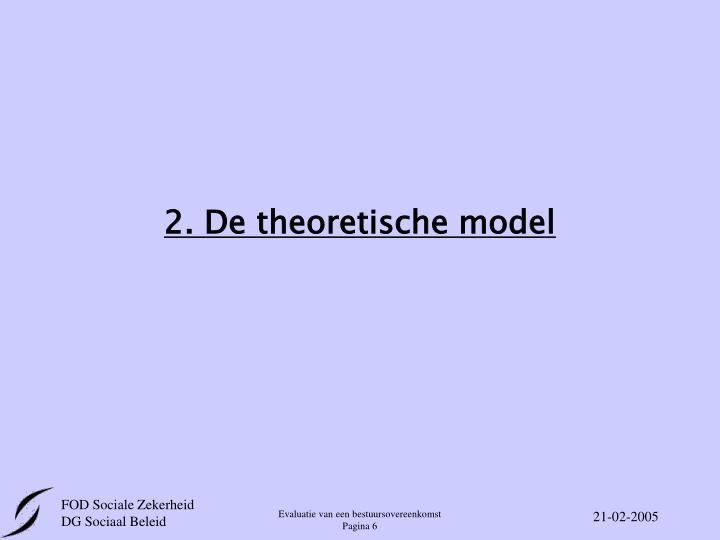 2. De theoretische model