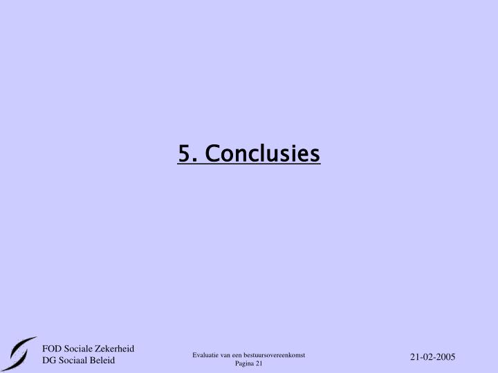 5. Conclusies