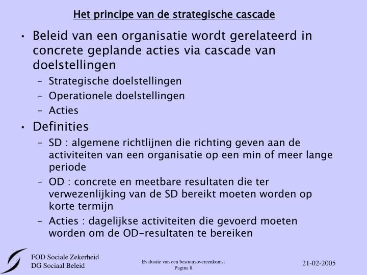 Het principe van de strategische cascade