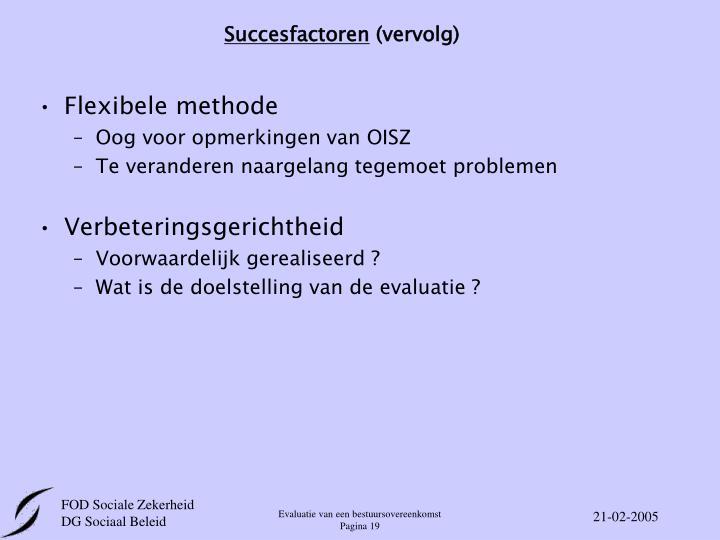 Succesfactoren
