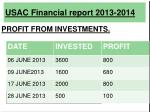 usac financial report 2013 201412