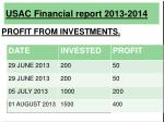 usac financial report 2013 201413