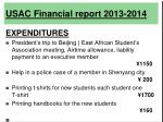 usac financial report 2013 201419