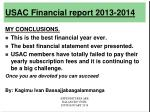 usac financial report 2013 201426