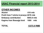 usac financial report 2013 20148