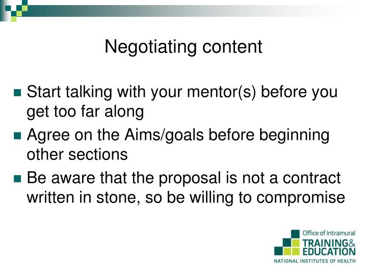 Negotiating content