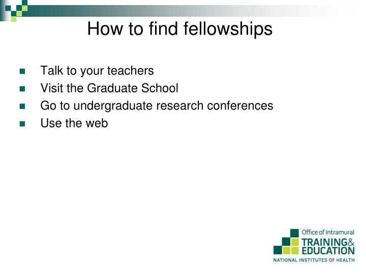 How to find fellowships