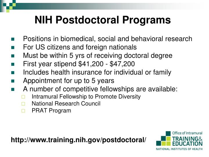 NIH Postdoctoral Programs