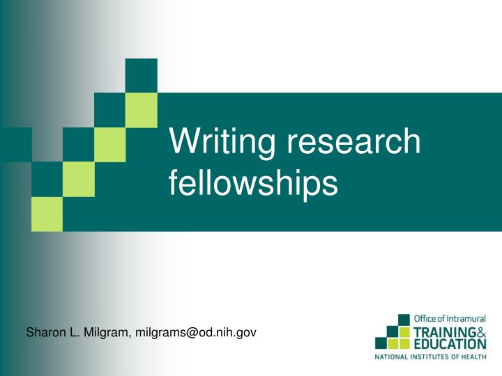 Writing research fellowships